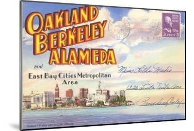 Postcard Folder, Oakland, Berkeley, Alameda, California--Mounted Art Print
