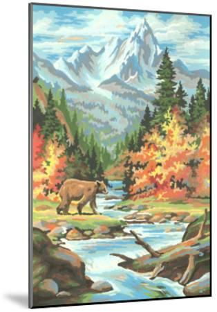 Paint by Numbers, Bear Scene--Mounted Art Print