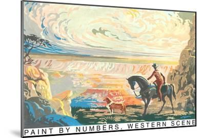 Paint by Numbers, Western Scene--Mounted Art Print