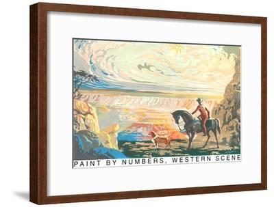 Paint by Numbers, Western Scene--Framed Art Print