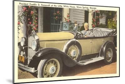 Franklin Roosevelt in Vintage Car, Warm Springs, Georgia--Mounted Art Print