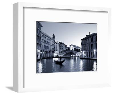 Gondola by the Rialto Bridge, Grand Canal, Venice, Italy-Alan Copson-Framed Photographic Print