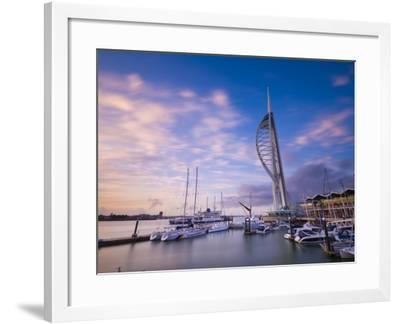 UK, England, Hampshire, Portsmouth, Gunwharf Marina, Spinnaker Tower-Alan Copson-Framed Photographic Print