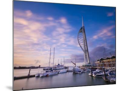 UK, England, Hampshire, Portsmouth, Gunwharf Marina, Spinnaker Tower-Alan Copson-Mounted Photographic Print