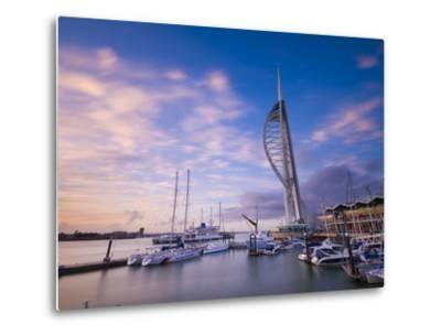 UK, England, Hampshire, Portsmouth, Gunwharf Marina, Spinnaker Tower-Alan Copson-Metal Print