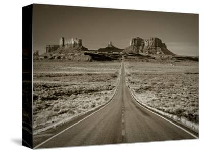 Straight Road Cutting Through Landscape of Monument Valley, Utah, USA-Gavin Hellier-Stretched Canvas Print