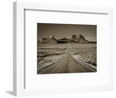 Straight Road Cutting Through Landscape of Monument Valley, Utah, USA-Gavin Hellier-Framed Photographic Print