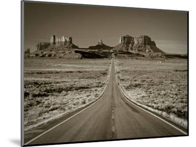 Straight Road Cutting Through Landscape of Monument Valley, Utah, USA-Gavin Hellier-Mounted Photographic Print