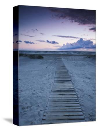 Beach at Dusk, Liepaja, Latvia-Ian Trower-Stretched Canvas Print