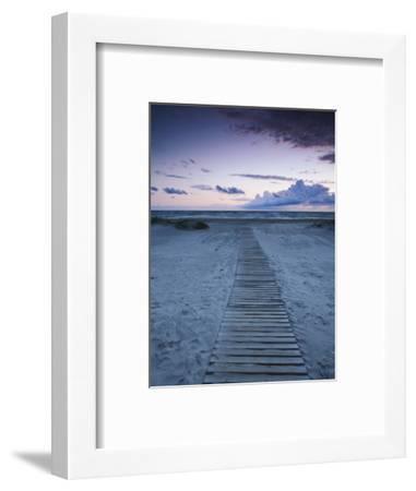 Beach at Dusk, Liepaja, Latvia-Ian Trower-Framed Photographic Print
