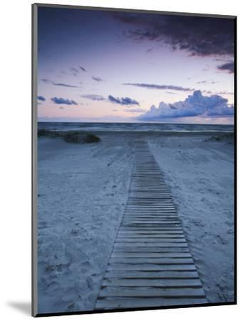 Beach at Dusk, Liepaja, Latvia-Ian Trower-Mounted Photographic Print