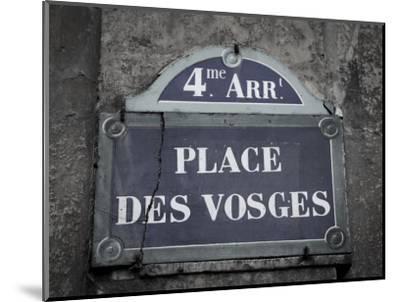 Place Des Vosges, Marais District, Paris, France-Jon Arnold-Mounted Photographic Print