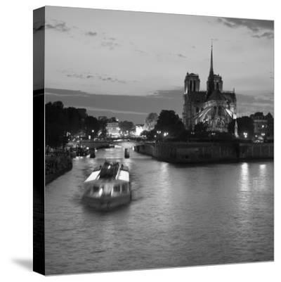 Notre Dame Cathedral and River Seine, Paris, France-Jon Arnold-Stretched Canvas Print
