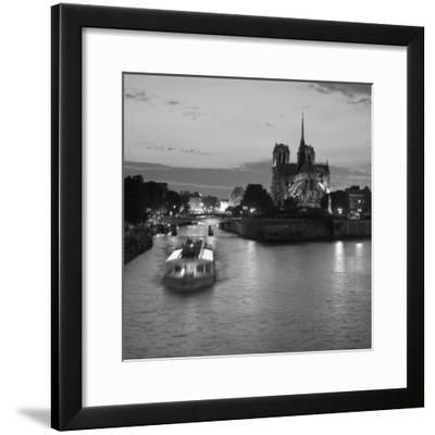 Notre Dame Cathedral and River Seine, Paris, France-Jon Arnold-Framed Photographic Print