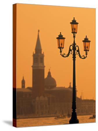San Giorgio Maggiore, Grand Canal at Sunset, Venice, Italy-Jon Arnold-Stretched Canvas Print