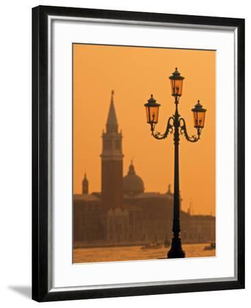 San Giorgio Maggiore, Grand Canal at Sunset, Venice, Italy-Jon Arnold-Framed Photographic Print