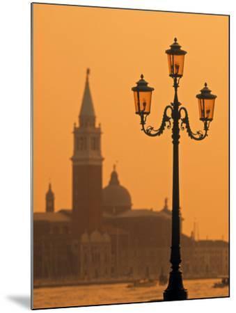 San Giorgio Maggiore, Grand Canal at Sunset, Venice, Italy-Jon Arnold-Mounted Photographic Print