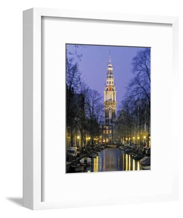 Zuiderkerkand Canal at Night, Amsterdam, Holland-Jon Arnold-Framed Photographic Print