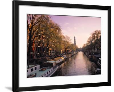 Westerkerk, Prinsengracht Canal, Amsterdam, Holland-Jon Arnold-Framed Photographic Print