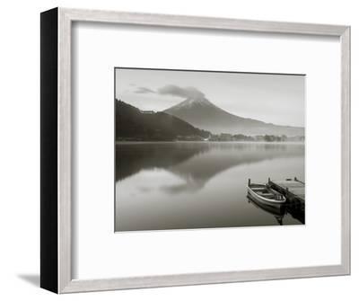 Mt. Fuji and Lake Kawaguchi, Kansai Region, Honshu, Japan-Peter Adams-Framed Photographic Print
