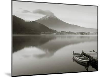 Mt. Fuji and Lake Kawaguchi, Kansai Region, Honshu, Japan-Peter Adams-Mounted Photographic Print