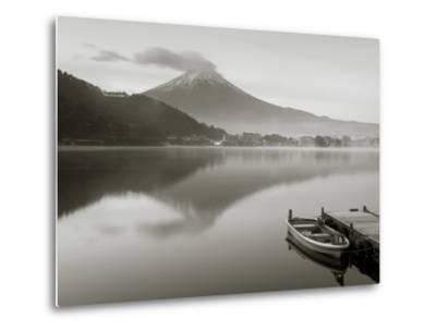 Mt. Fuji and Lake Kawaguchi, Kansai Region, Honshu, Japan-Peter Adams-Metal Print