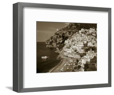 Village of Positano, Amalfi Coast, Campania, Italy-Steve Vidler-Framed Photographic Print