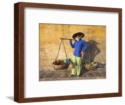 Vietnam, Hoi An, Fruit Vendor-Steve Vidler-Framed Photographic Print