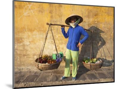 Vietnam, Hoi An, Fruit Vendor-Steve Vidler-Mounted Photographic Print