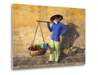 Vietnam, Hoi An, Fruit Vendor-Steve Vidler-Metal Print