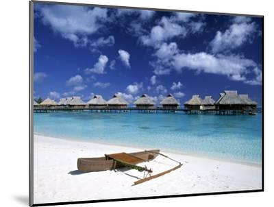 Beach at Bora Bora Nui Resort, Bora Bora, French Polynesia-Walter Bibikow-Mounted Photographic Print