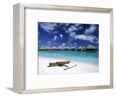Beach at Bora Bora Nui Resort, Bora Bora, French Polynesia-Walter Bibikow-Framed Photographic Print