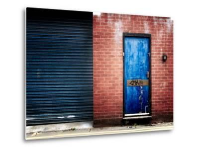 Derelict Door with Graffiti-Clive Nolan-Metal Print