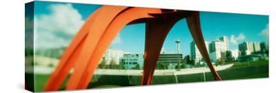 Sculpture in a Park, Olympic Sculpture Park, Seattle Art Museum, Seattle, King County, Washington--Stretched Canvas Print