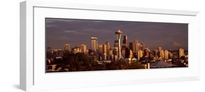 City Viewed From Queen Anne Hill, Space Needle, Seattle, King County, Washington State, USA 2010--Framed Photographic Print