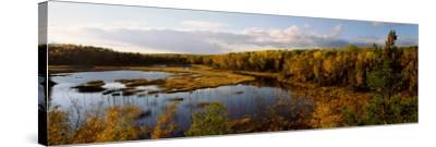 Lake in Autumn, Wood Lake, Superior National Forest, Yellow Medicine County, Minnesota, USA--Stretched Canvas Print