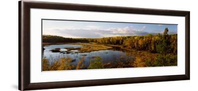 Lake in Autumn, Wood Lake, Superior National Forest, Yellow Medicine County, Minnesota, USA--Framed Photographic Print