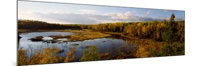 Lake in Autumn, Wood Lake, Superior National Forest, Yellow Medicine County, Minnesota, USA--Mounted Photographic Print