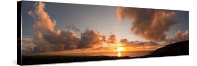 Sunset Over the Sea, Kona Coast, Kealakekua Bay, Hawaii, USA--Stretched Canvas Print