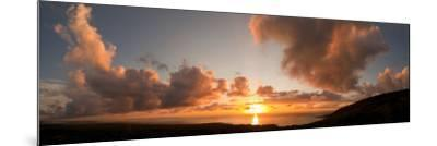 Sunset Over the Sea, Kona Coast, Kealakekua Bay, Hawaii, USA--Mounted Photographic Print