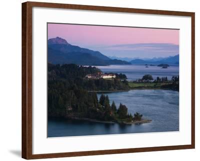 Hotel at the Lakeside, Llao Llao Hotel, Lake Nahuel Huapi, San Carlos De Bariloche--Framed Photographic Print