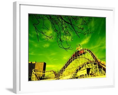 Rollercoaster, the Cyclone Rollercoaster, Astroland, Coney Island, Brooklyn, New York City--Framed Photographic Print