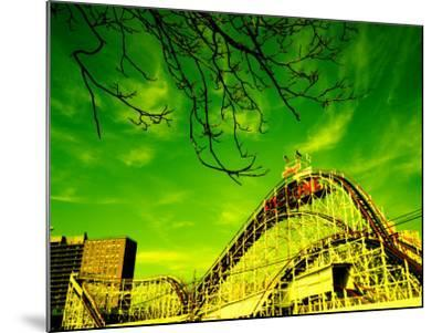 Rollercoaster, the Cyclone Rollercoaster, Astroland, Coney Island, Brooklyn, New York City--Mounted Photographic Print