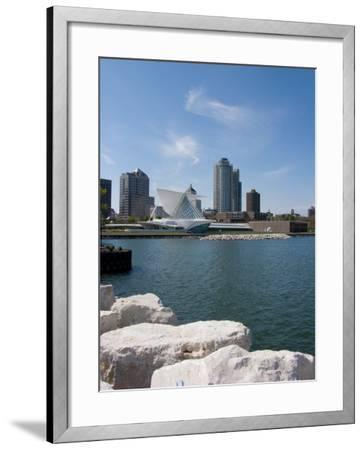 Museum at the Waterfront, Milwaukee Art Museum, Lake Michigan, Milwaukee, Wisconsin, USA--Framed Photographic Print