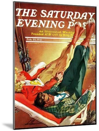 """Apres Ski,"" Saturday Evening Post Cover, February 22, 1941-Ski Weld-Mounted Giclee Print"