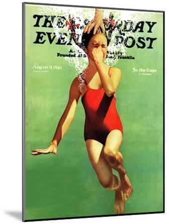 """""""Dunked Under Water,"""" Saturday Evening Post Cover, August 9, 1941-John Hyde Phillips-Mounted Premium Giclee Print"""