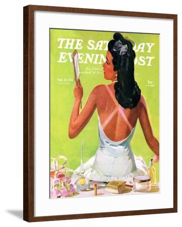 """Tan Lines,"" Saturday Evening Post Cover, September 27, 1941-Albert W^ Hampson-Framed Giclee Print"