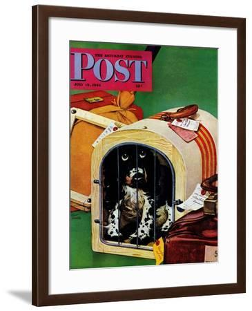 """""""Traveling Butch,"""" Saturday Evening Post Cover, July 15, 1944-Albert Staehle-Framed Giclee Print"""