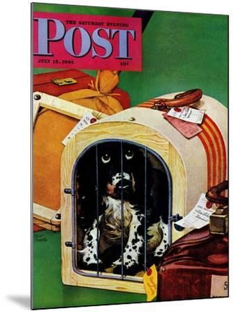 """""""Traveling Butch,"""" Saturday Evening Post Cover, July 15, 1944-Albert Staehle-Mounted Giclee Print"""
