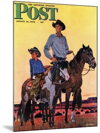 """Surveying the Ranch,"" Saturday Evening Post Cover, August 19, 1944-Fred Ludekens-Mounted Giclee Print"